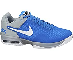 NIKE Air Max Breathe Cage Men\'s Tennis Shoes, Grey/Blue, US12.5