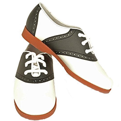 Hip Hop 50s Shop Child Girls Saddle Oxford Shoes 4 (Saddle Shoes For Girls compare prices)