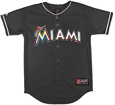 MLB Youth Miami Marlins Alternate Replica Jersey, Black