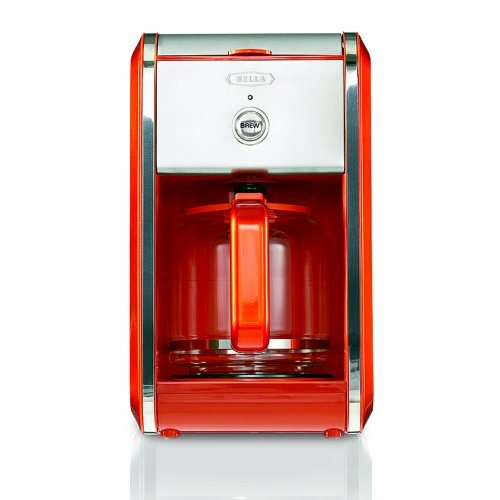 BELLA 13786 Dots Collection 12-Cup Coffee Maker, Orange New eBay
