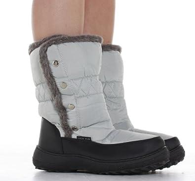 Bottes De Neige Pluie Fourrées Caoutchouc Apres Ski Femme Chaussures Moon Boots Taille 37 38 39 40 41