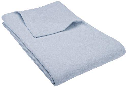 Pinzon Heather Flannel Blanket, Full/Queen, Blue Heather front-1023394
