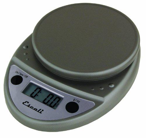 Escali P115MPL Primo Digital Scale - 11 lb - 5 kg - gris m-tallis-