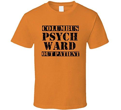 [Columbus Ohio Psych Ward Funny Halloween City Costume T Shirt 2XL Orange] (Columbus Ohio Halloween)