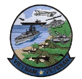 Vietnam Veteran Small Round Patch Military Collectibles, Patriotic Gifts for Men, Women, Teens, Veterans Great Gift Idea for Wife, Husband, Relative, Boyfriend, Girlfriend, Grandparent, Fiance or Friend. Perfect Christmas Stocking Stuffer or Veterans Day Gift Idea. Design: For Women or Men!