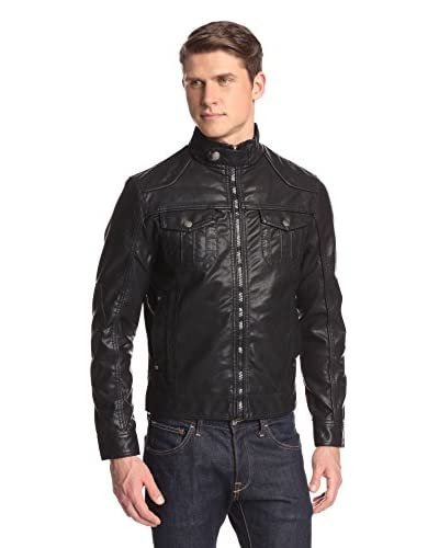 X-Ray Men's Zip Up Bomber with Snap Neck