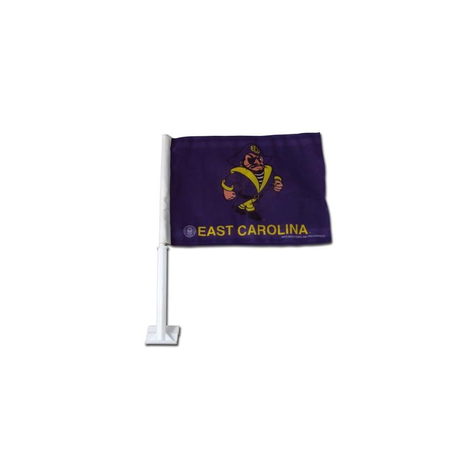 East Carolina Pirates Jolly Roger Car Flag