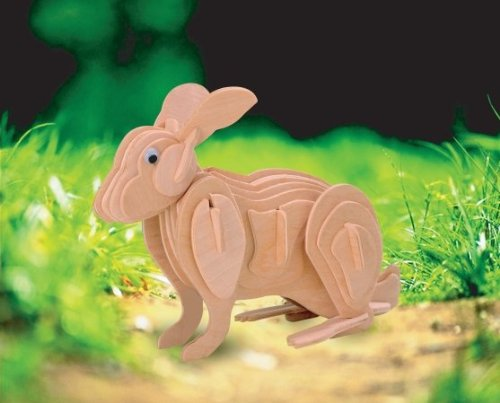Puzzled Rabbit 3D Wooden Puzzle (43 Piece)