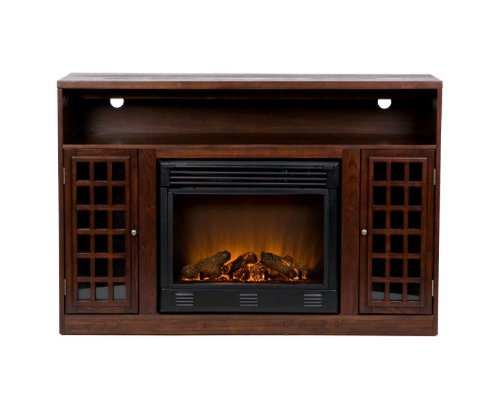Akita Espresso Media Electric Fireplace Lowes