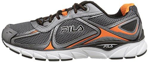 Fila Men's Quadrix Running Shoe, Castlerock/Dark Silver/Vibrant Orange, 10.5 M US