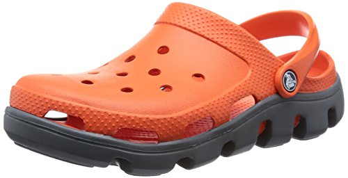 [クロックス] crocs Duet Sport Clog 11991 8B0(Tangerine/Charcoal/M8/W10)