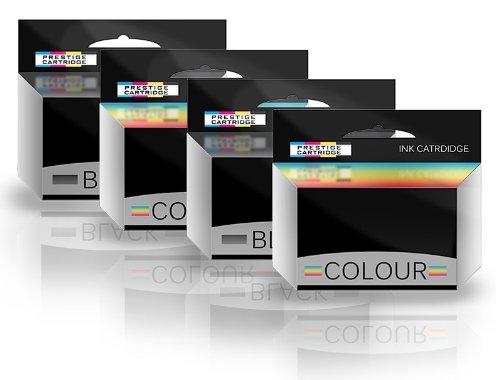 Prestige Cartridge ABK10/ACLR10 Quattro Cartucce di Inchiostro non OEM per Stampanti Advent, Multicolore