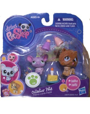 Buy Low Price Hasbro Littlest Pet Shop Collector Pet Pairs Series 1 Figures Rat Dog (B004MSWX6U)