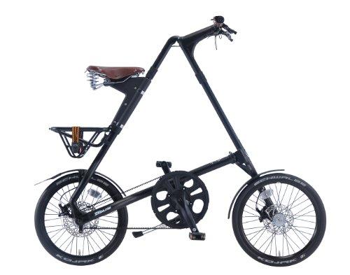 STRIDA(ストライダ) 18インチアロイ製折りたたみ自転車 [ディスクブレーキ/リアキャリア/泥除け/ベル標準装備] STRIDA SX(2014) マットブラック