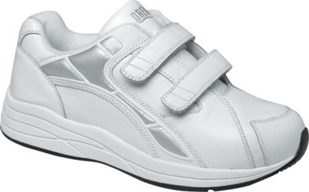 Drew Shoe Men's Force Velcro Athletic Walking Shoe,White,10 W US