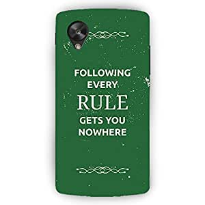 EYP SUITS Quotes Back Cover Case for LG Google Nexus 5