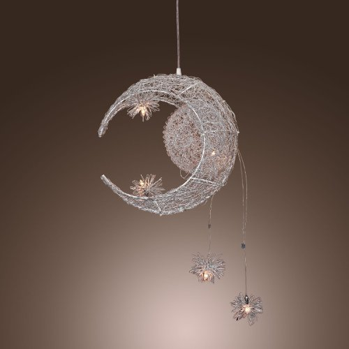 Aluminum Moon & Star Kid'S Bedroom Ceiling Pendant Lamp Children'S Study Room Chandelier Light Babyroom Ceiling Lighting Fixures