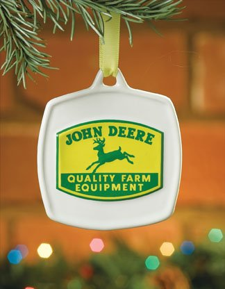 John Deere Christmas Ornament 1950 Vintage Quality Farm Equipment Logo #615860