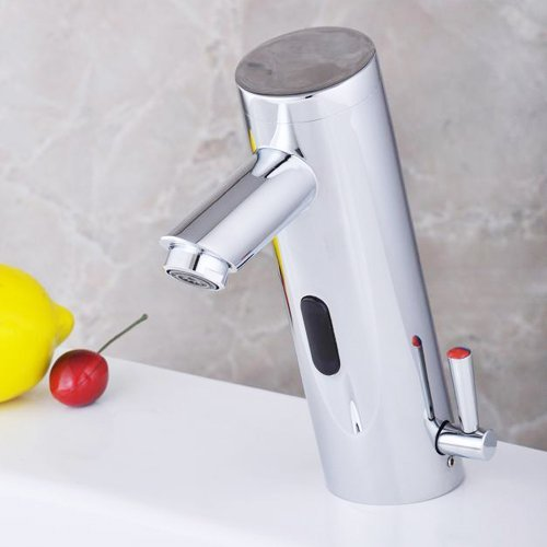 Hands Free Automatic Sensor Mixer Sink Tap With Hot Cold