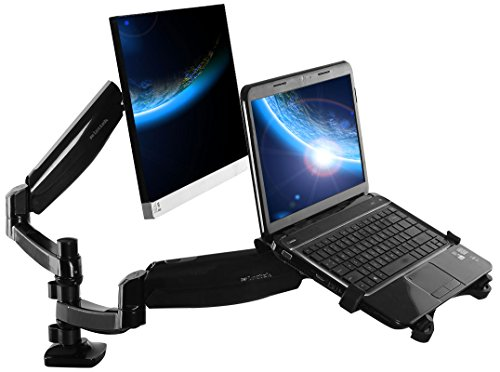 Find Discount Loctek Full Motion Gas Spring Dual Arm Desk Mounts for Laptop 10-27-Inch (D5DL)