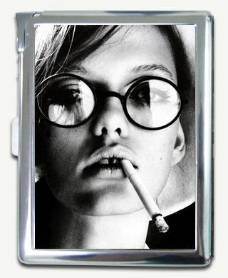 Dusan Reljin Smoking Girl Cigarette Case with Built-in Lighter