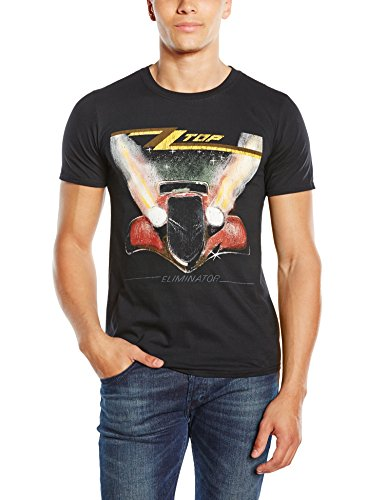 ZZ Top Men's Eliminator Short Sleeve T-Shirt, Black