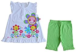 Babeez Baby Girl T-Shirt + Capri set with print (Top:100%Cotton & Capri: 95%Cotton 5%Elasthan) to fit height 80 - 86cms