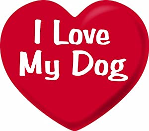 Imagine This 5-1/2-Inch by 5-Inch Car Magnet Heart, I love My Dog from Imagine This Company