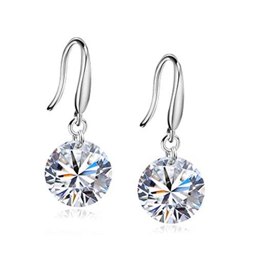 YZG glitter earrings women's earrings ear studs silver dangle