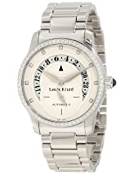 Bestseller Louis Erard Women's 91601SE56.BMA16 Emotion Automatic Ivory Dial Diamond Steel Date Watch Special offer