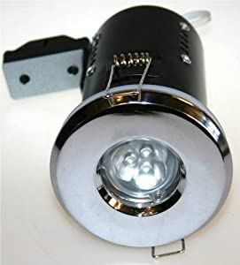Chrome Mains Fire Rated Ip65 Bathroom Downlight Led Lamp
