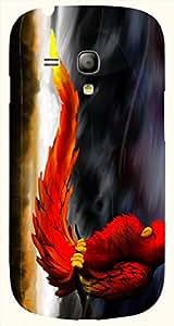 Attractive multicolor printed protective REBEL mobile back cover for S3 Mini / Samsung I8190 Galaxy S III mini D.No.N-T-4698-S3M