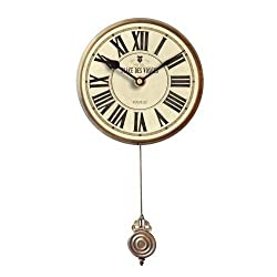 Floating Circus Wall Clock, 6-Inch, Des Vosges White