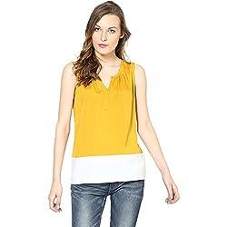 Harpa Women's Body Blouse Shirt (GR2171-Yellow_X-Large)