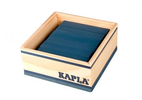 KAPLA 6508 Holzplättchen, 40 Steine, dunkelblau