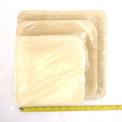 BambooImportsMN Brand Square Bamboo Veneer Plates
