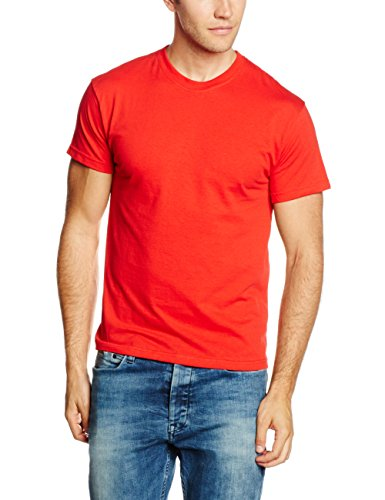 fruit-of-the-loom-ss022m-t-shirt-homme-rouge-large