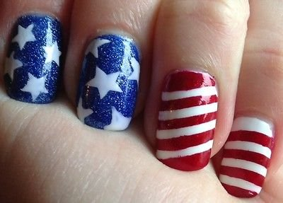 Patriotic Stars & Stripes Vinyl Nail Guides - Stencil, Flag, 4th of July LIMITED
