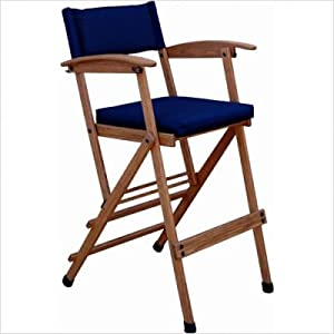 """Bundle-72 28"""" Deluxe Bamboo Director Chair (Set of 2) Finish: Forest Green"""