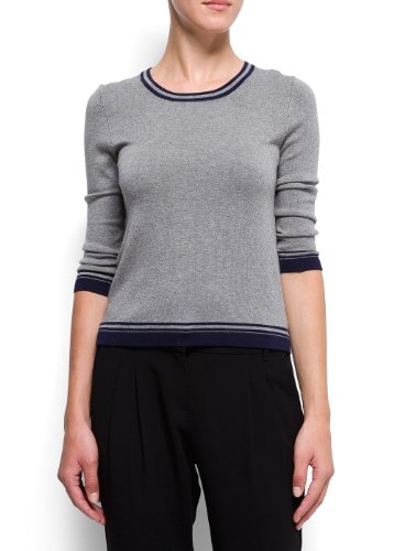 Mango Women's Contrasted Trimming Jumper