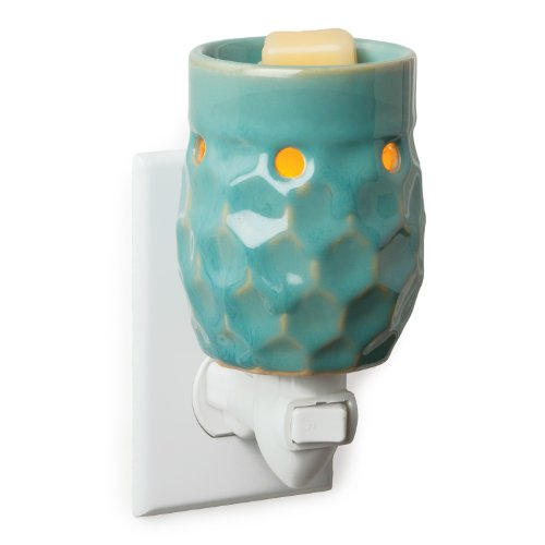 Candle Warmers Plug-In Fragrance Warmer, Honeycomb Turquoise