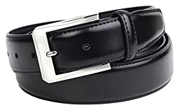 Mens Black Leather Belt By Vellette - Various Styles to Choose From! (34, BL144)