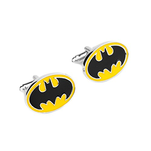Blue-Heron-DC-Comics-Batman-Logo-Groomsman-Wedding-Gift-Mens-Boys-Cufflinks-with-Gift-Box