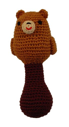 kidSTYLE Amikins Bear Rattle, Brown