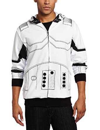 Star Wars Men's I am a Trooper Fleece Hoodie, White, Small