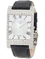Swisstek SK57741L Limited Edition Swiss Diamond Watch With Mother-Of-Pearl Dial, Genuine Crocodile Strap And Sapphire Crystal