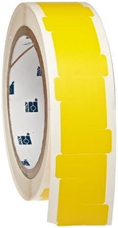 "Brady 113262 1"" Height, 1"" Width, B-933 Vinyl, L-Shape Yellow Vinyl Corner Marking Tape (750 Per Roll)"