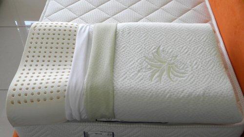 Cuscino 100 lattice doppia onda per cervicale tessuto aloe - Cuscini letto per cervicale ...