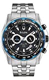 Bulova Marine Star Chronograph Bracelet Black Dial Men's Watch #98B120