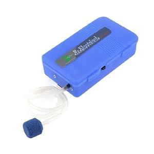 Outdoor Belt Clip Design Air Pump Blue for Fish Bowl Aquarium